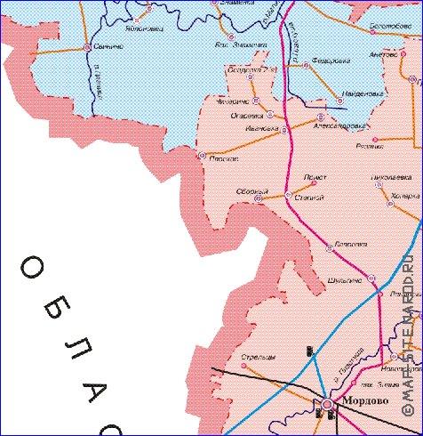 рыболовные карты тамбовской области